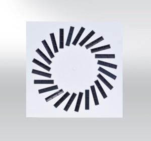 Dralldurchlass mit verstellbaren Lamellen