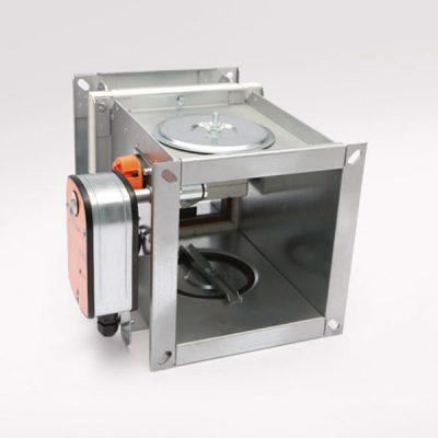 Brandschutzklappe eckig BSK-A-E mit Federrücklaufmotor Belimo