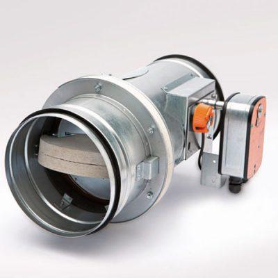 Brandschutzklappe rund BSK-A-R mit Federrücklaufmotor Belimo