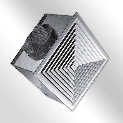 Deckenluftdurchlass ALCM mit Ecobox
